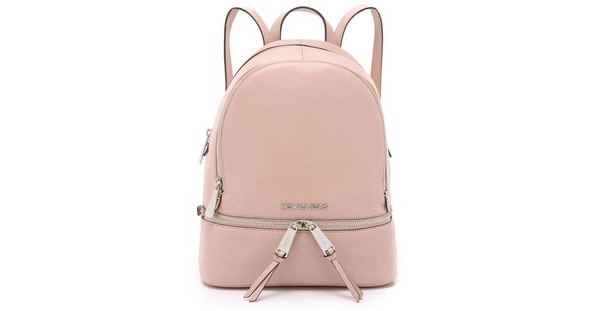 2a92d2dd81bf MICHAEL Michael Kors Rhea Small Backpack - Ballet in Pink - Lyst