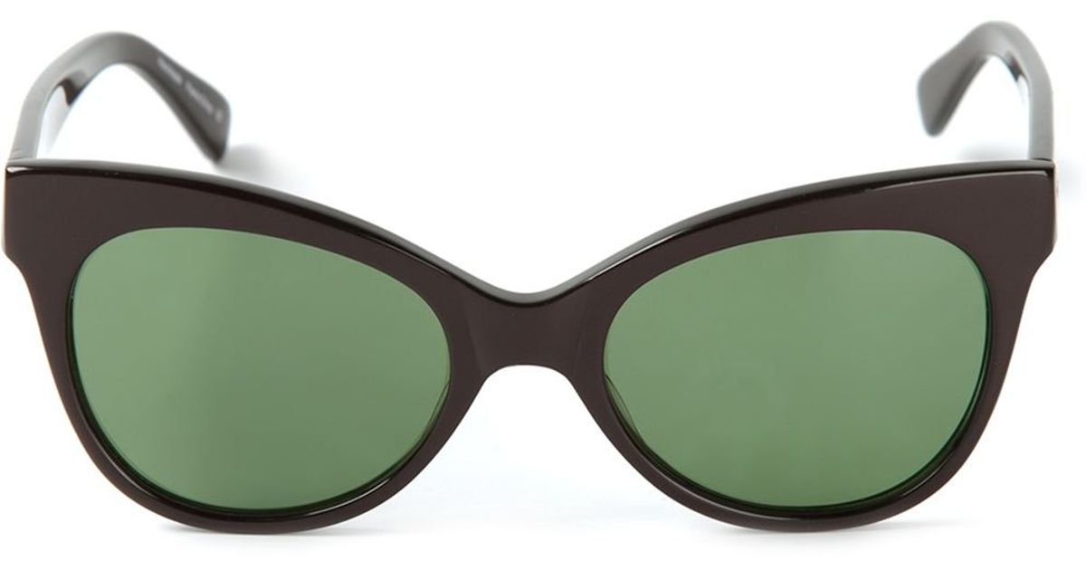 d02e3af96974 Lyst - Norma Kamali Square Cat Eye Sunglasses in Black