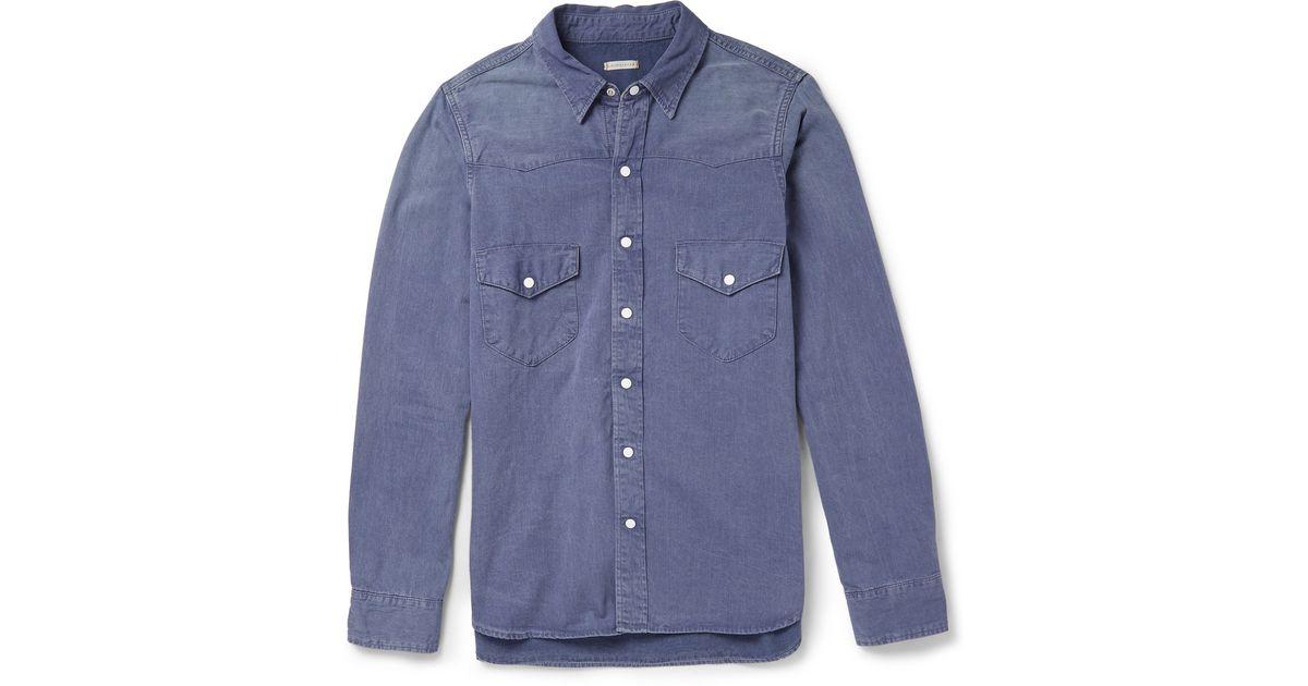 084ccdcbc8 Lyst - Chimala Denim Western Shirt in Blue for Men
