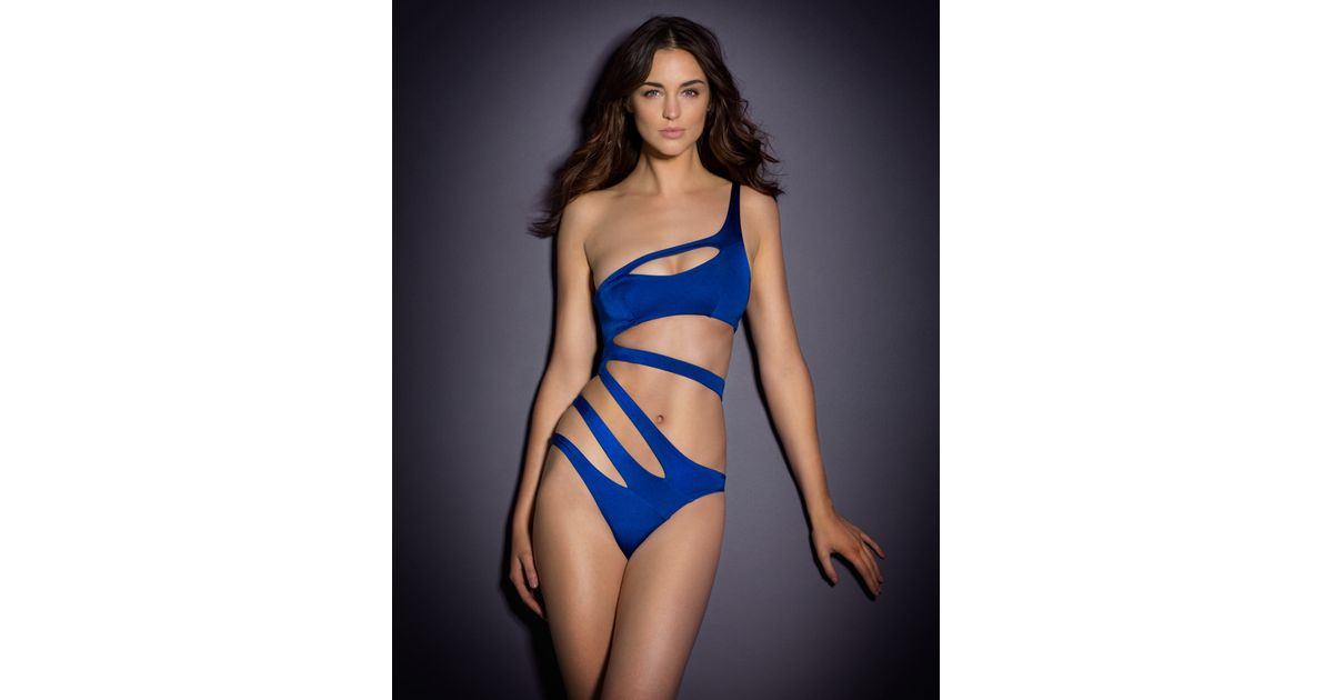 Agent Provocateur - Lexxi Swimsuit Blue - Lyst 60309040e