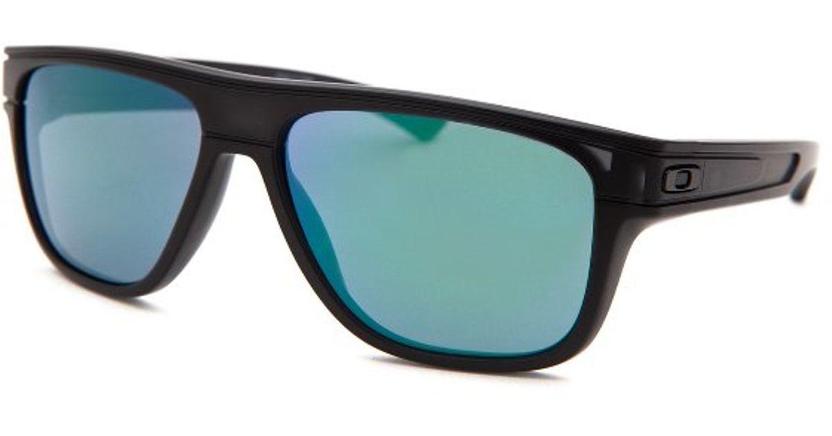 303a43b9f0 Lyst - Oakley Men s Breadbox Square Black Sunglasses in Black for Men