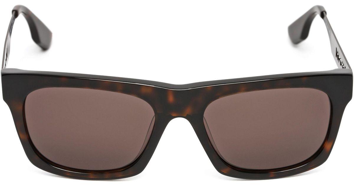 b7043220cdbc1 McQ Razor Sunglasses in Brown for Men - Lyst