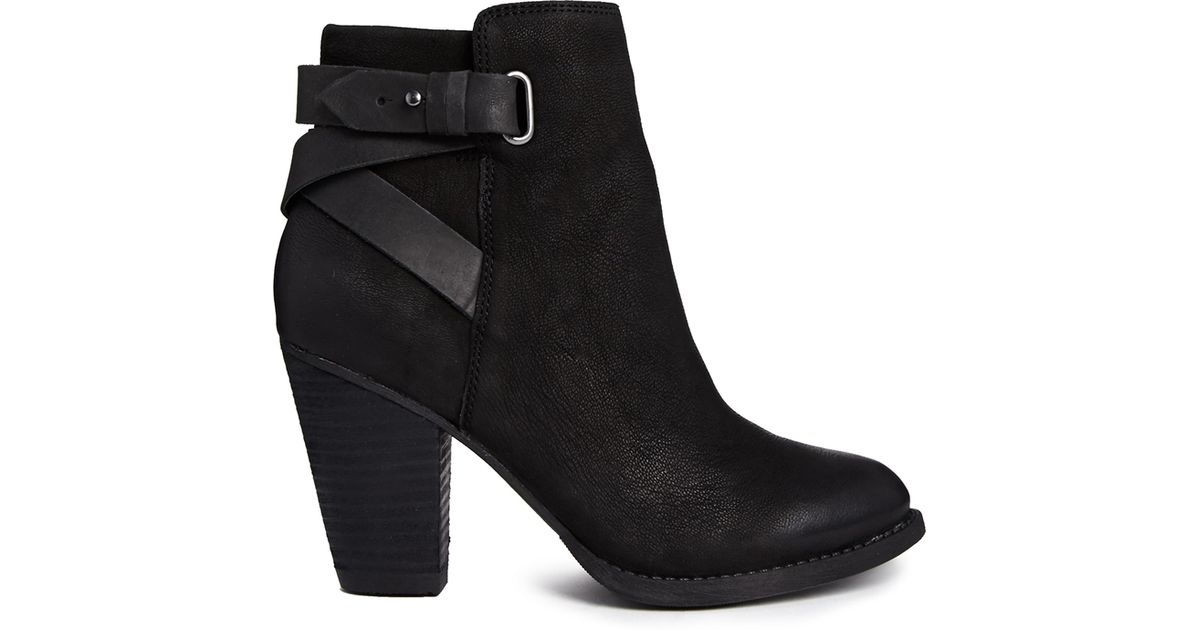 e414d5777f ALDO Salazie Leather Heeled Ankle Boots in Black - Lyst