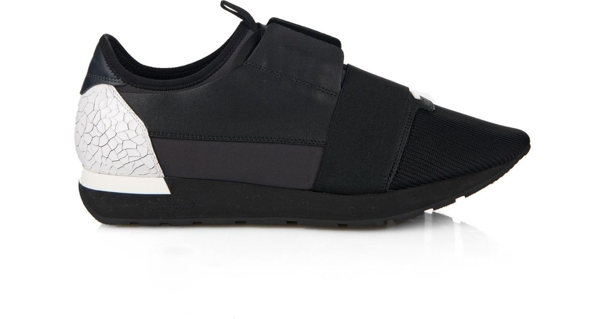 2cee48834385 Lyst - Balenciaga Leather Low-Top Trainers in Black for Men