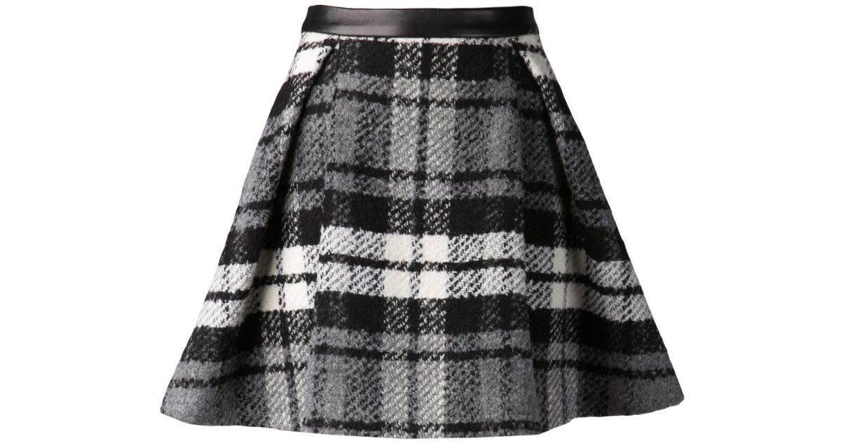 Drome Plaid Skirt in Black | Lyst