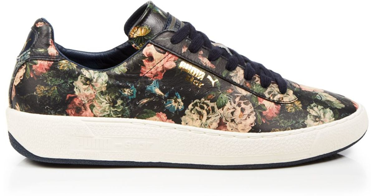 a4d96bd2a463 Lyst - PUMA Lace Up Sneakers - House Of Hackney X Rose Print