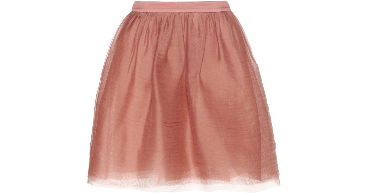 dorothee schumacher fragile nature silk chiffon skirt in pink lyst. Black Bedroom Furniture Sets. Home Design Ideas