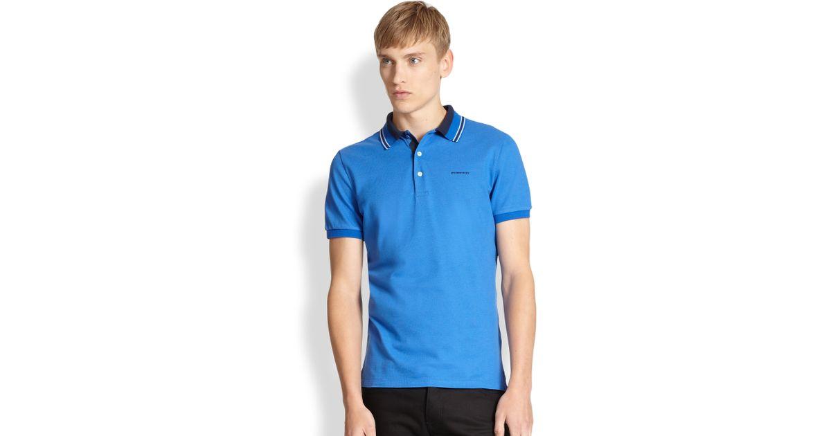 7dbfc859 Lyst - Burberry Adler Polo in Blue for Men