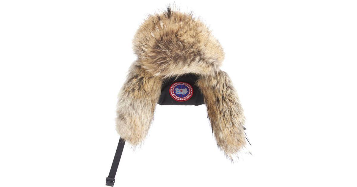 canada goose aviator hat black