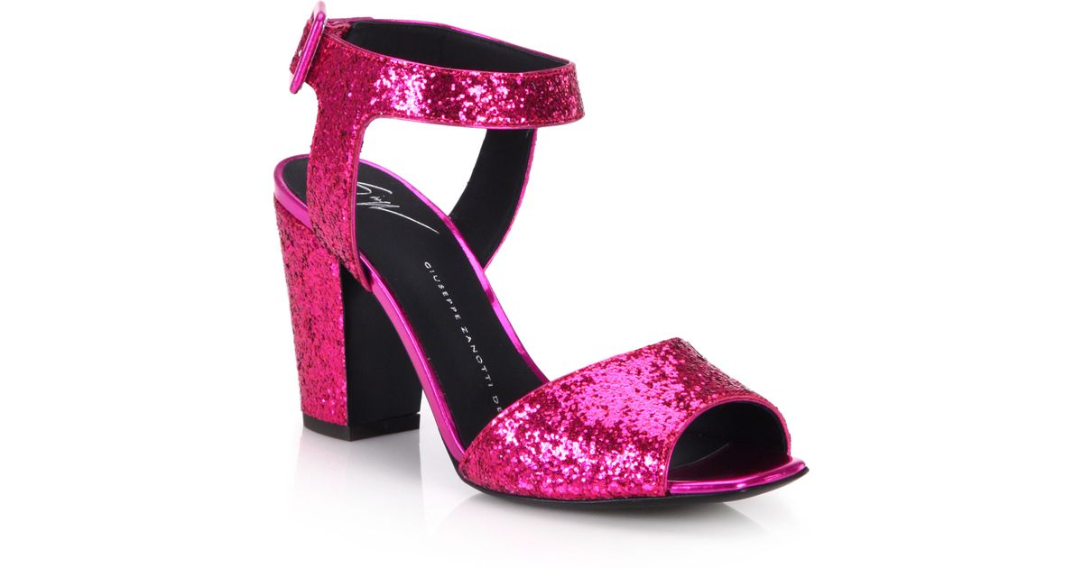 Zanotti Glitter Giuseppe Purple Heel Mid Oerxwdcqbe Sandals TK1c3lFJ