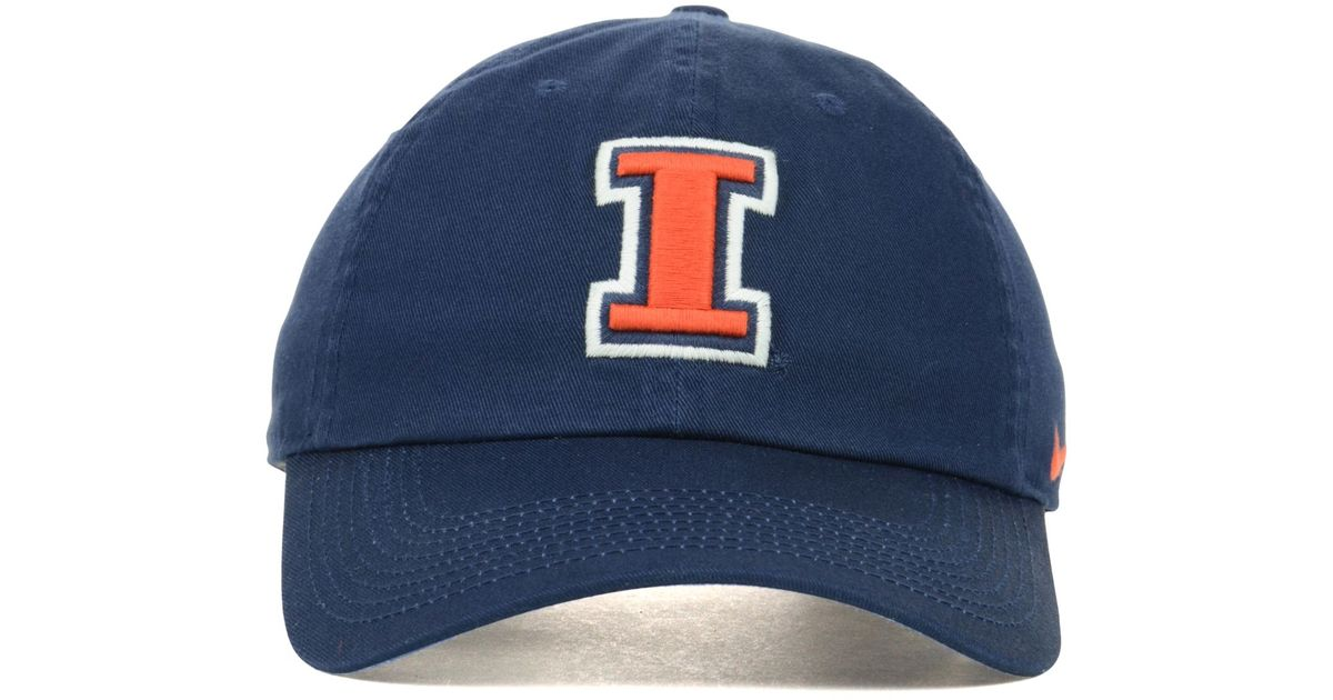 outlet store sale 3a8f4 1f94f ... coupon code for lyst nike illinois fighting illini ncaa dri fit  tailback cap in blue for