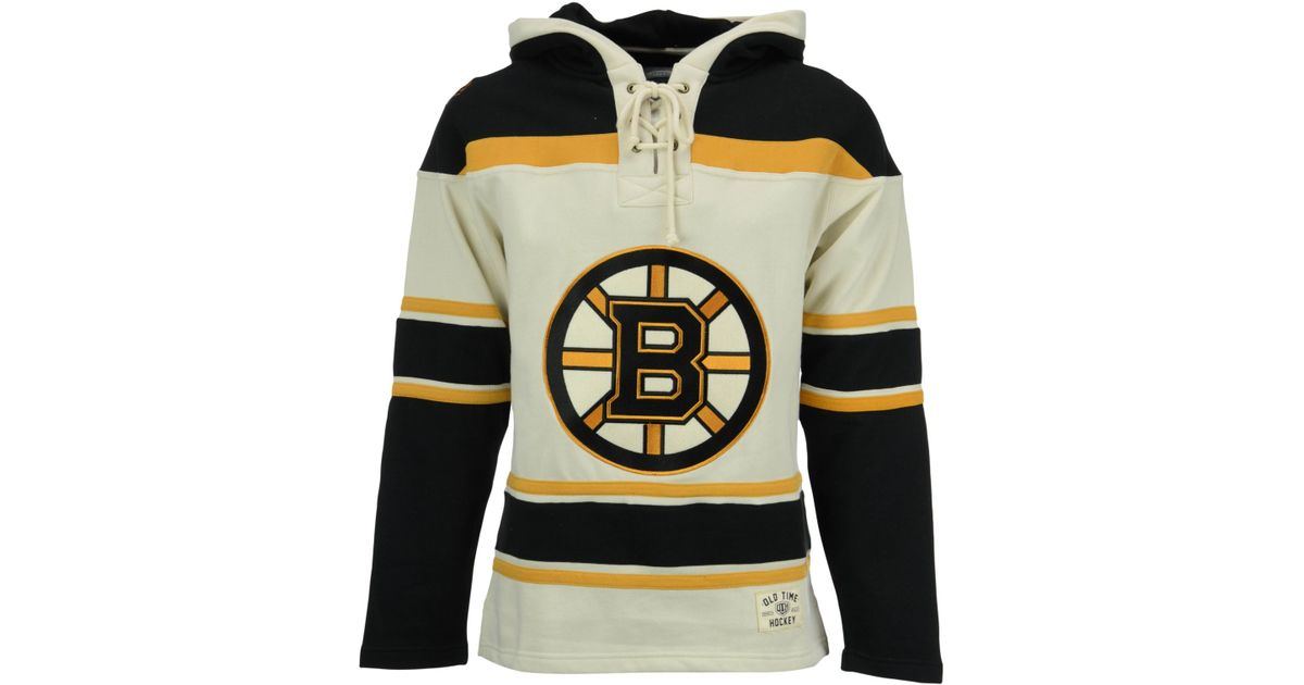 Lyst - Old Time Hockey Men s Boston Bruins Lacer Hoodie in White for Men 1c08b7d52b0