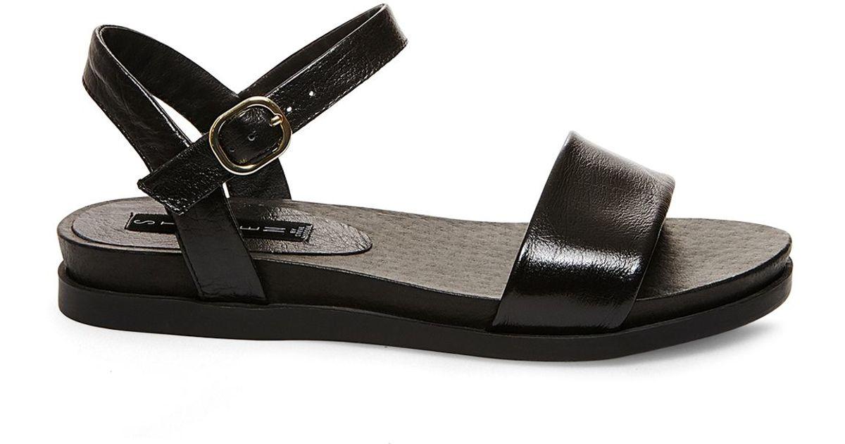 7232b0d5427 Lyst - Steven by Steve Madden Ankle Strap Sandals - Karli in Black
