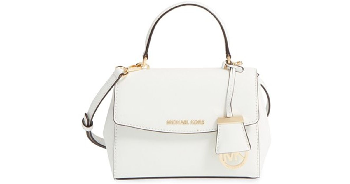 8c1e31123169 ... italy lyst michael michael kors extra small ava leather crossbody bag  in white 1bbaf f348c