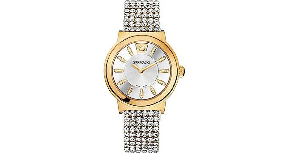 2120a39460f9 Swarovski Piazza Mesh Watch in Metallic - Lyst