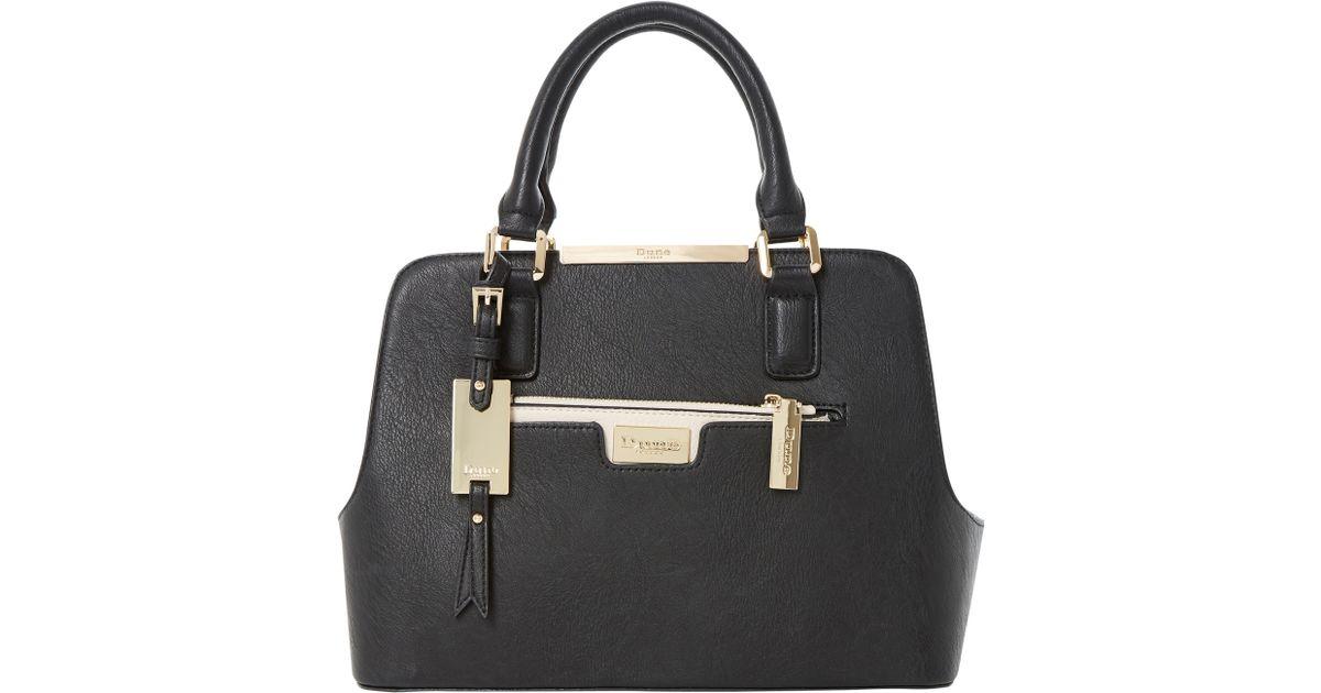 Dune Domino Multi Compartment Tote Bag in Black - Lyst 06f9dbe30970f