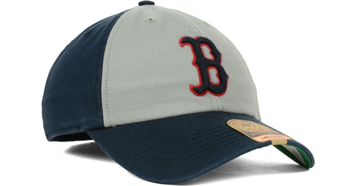 28e9cbb114de3 ... authentic lyst 47 brand boston red sox vip franchise cap in gray for  men 5ee20 c5f60
