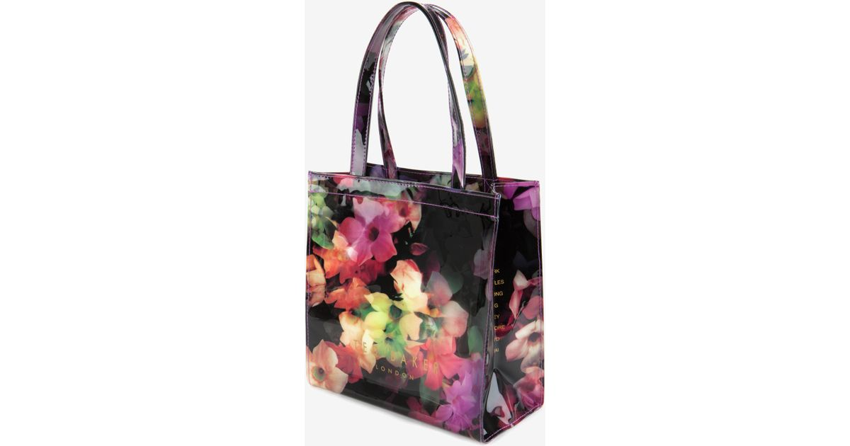 89ca443a9194a5 Large · Small fashion styles 9440c 0db2b  Ted Baker Small Cascading Floral  Shopper Bag in Black - Lyst best shoes 7fc96 0f7bb ...