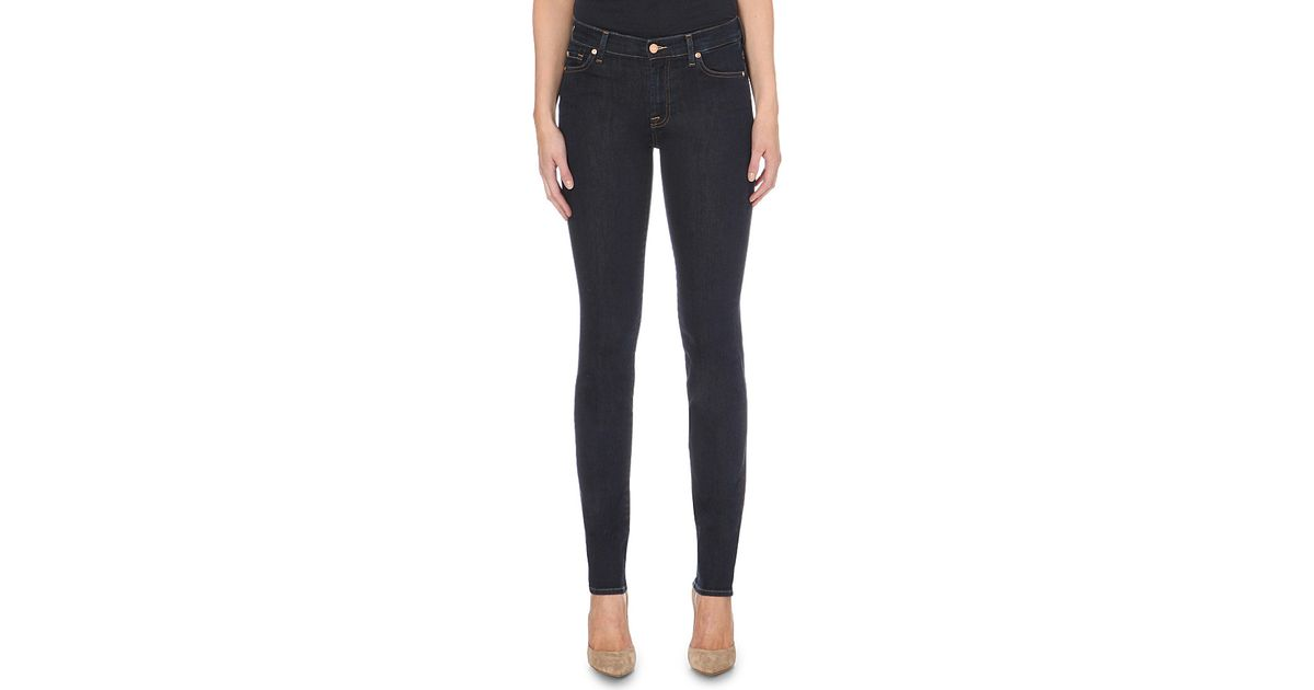 7 for all mankind Rozie Slim Illusion Super-skinny High-rise Jeans ...