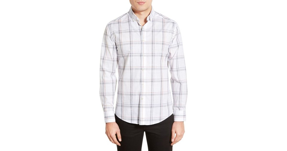 Vince Camuto Slim Fit Button Down Collar Sport Shirt In