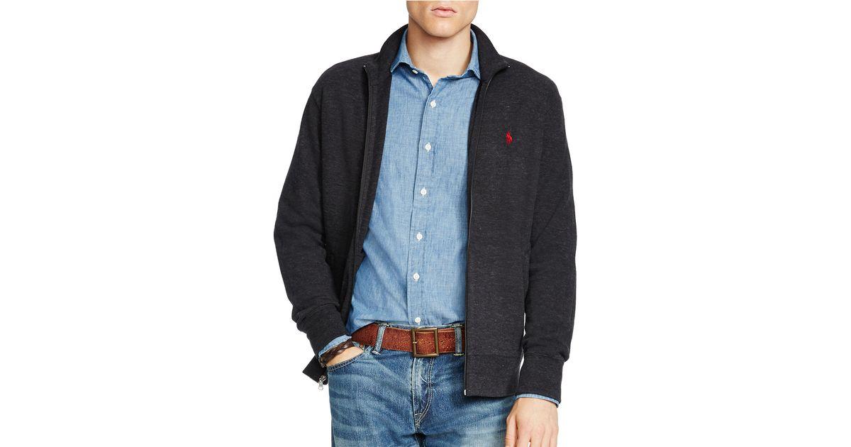 Polo ralph lauren French-rib Full-zip Jacket in Beige for Men (Chic Cream)   Lyst