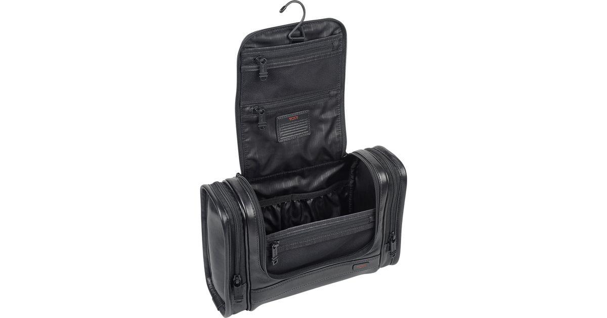 Lyst - Tumi Alpha 2 Leather Hanging Travel Kit in Black for Men 275f19e99748e