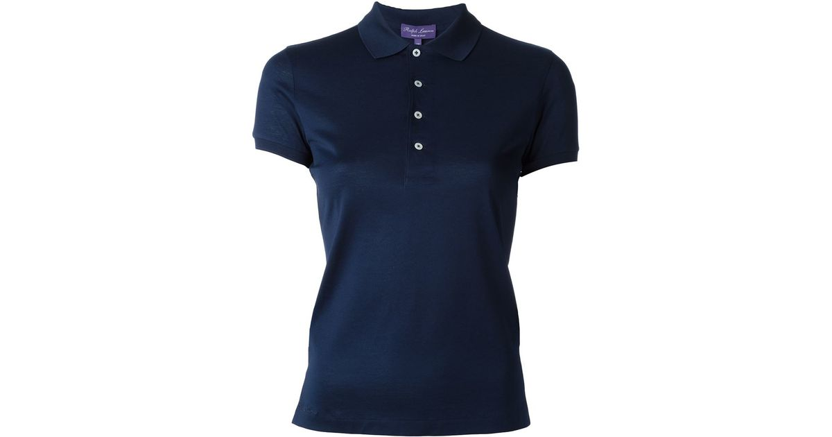 Ralph lauren black label polo shirt in blue save 35 lyst for Black ralph lauren shirt purple horse
