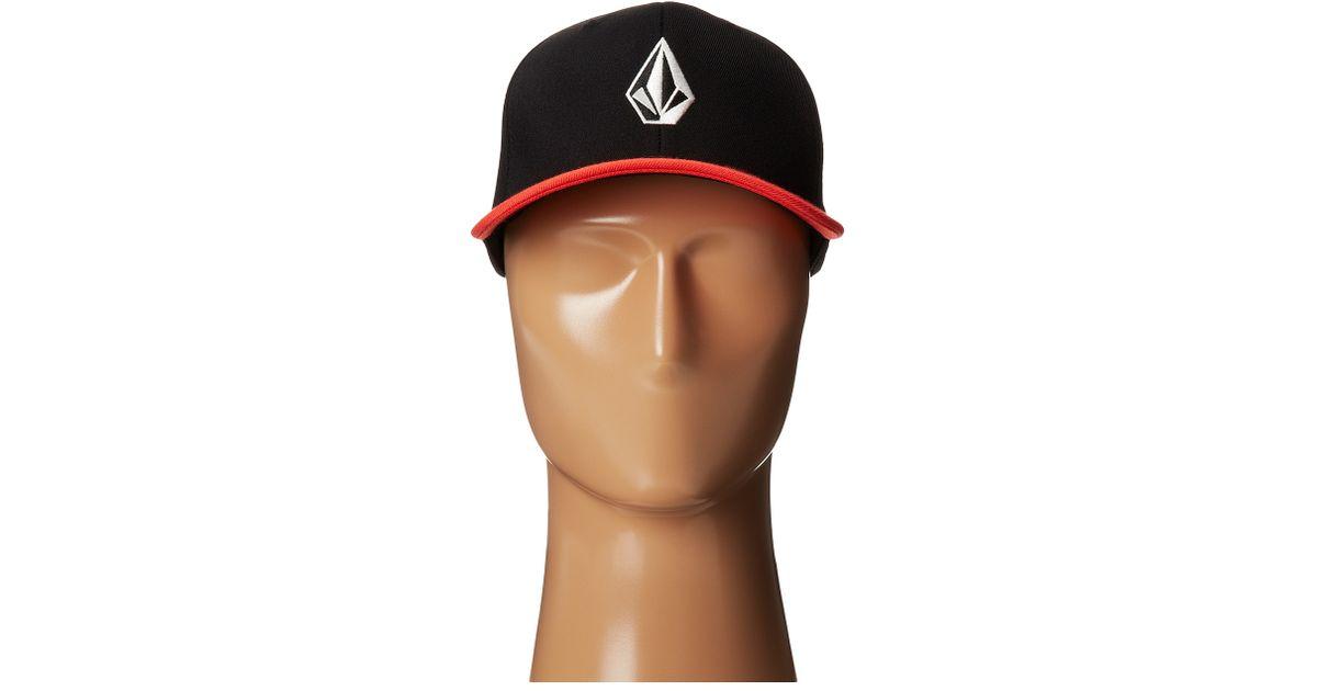 0ffb72167ec7b ... stretch twill hat hat 9796c 5b56f  best price lyst volcom full stone  frabric xfit flexfit hat in black for men 6762e baf8f