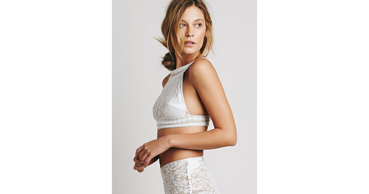 4b08e2f2e1 Lyst - Free People Skivvies By For Love   Lemons Womens Pear Blossom  Bralette in White