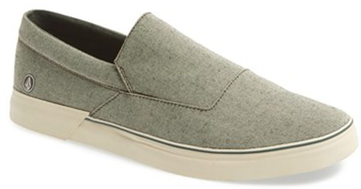 volcom thirds canvas slip on in for lyst