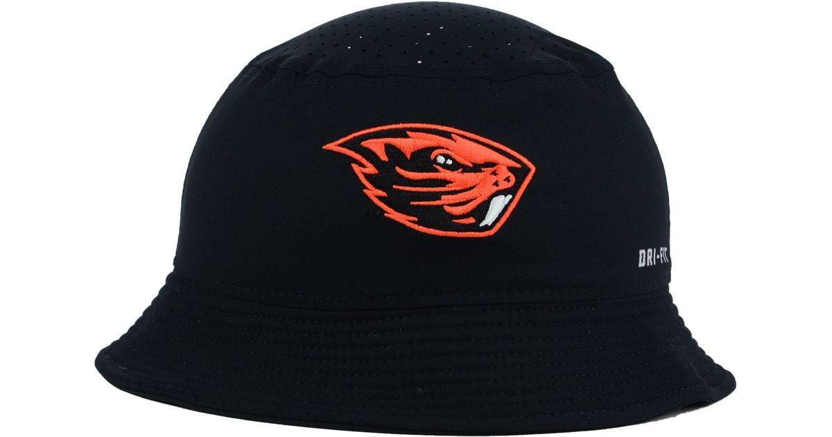84356e42 discount code for lyst nike oregon state beavers vapor bucket hat in black  for men 229c4