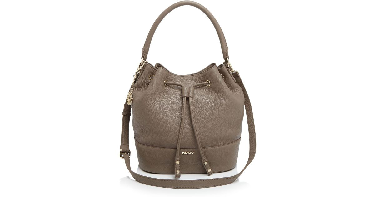 Dkny Shoulder Bag - Tribeca Bucket Drawstring in Brown | Lyst