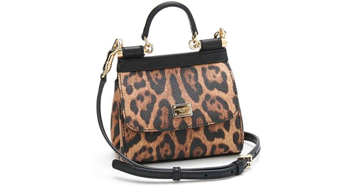 Lyst - Dolce   Gabbana  mini Miss Sicily  Leopard Print Leather Satchel 79588f7184