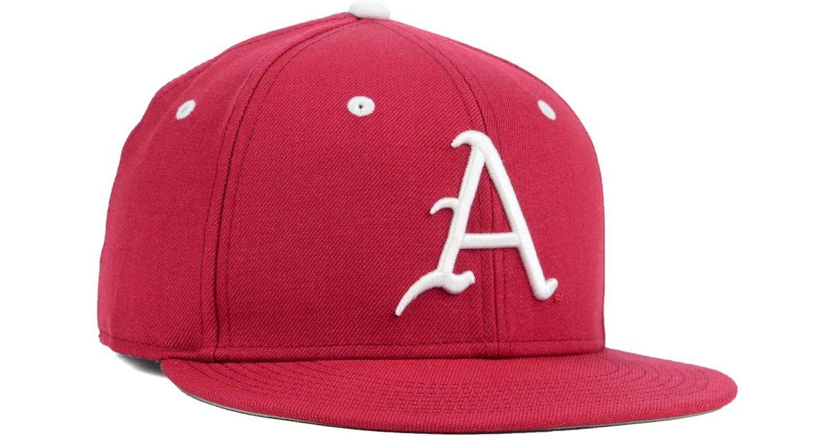 buy online 68e23 c805b Nike Arkansas Razorbacks True College Fitted Cap in Pink for Men - Lyst