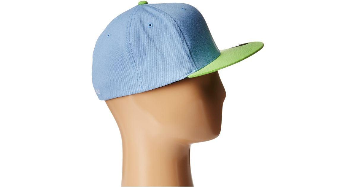 Lyst - Vans Splitz Flexfit Hat in Green for Men 3bdfeebf604
