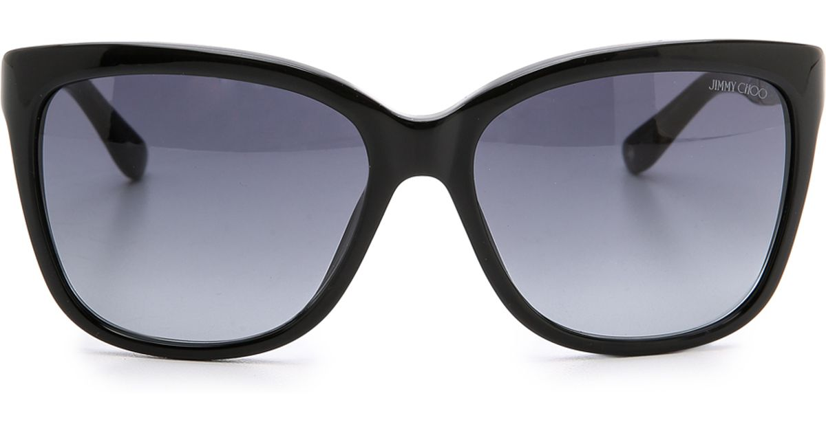 b8f97182b58fb Lyst - Jimmy Choo Cora Sunglasses in Black