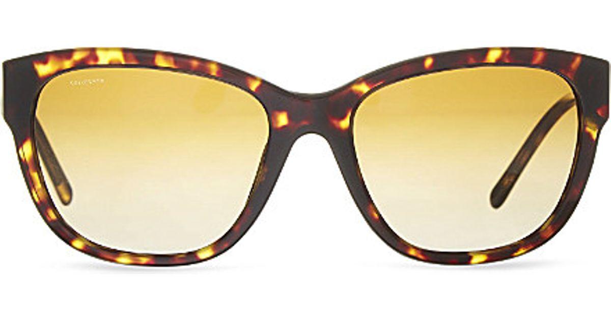 d1d524be6e3 Burberry Tortoise Cat Eye Sunglasses in Brown - Lyst