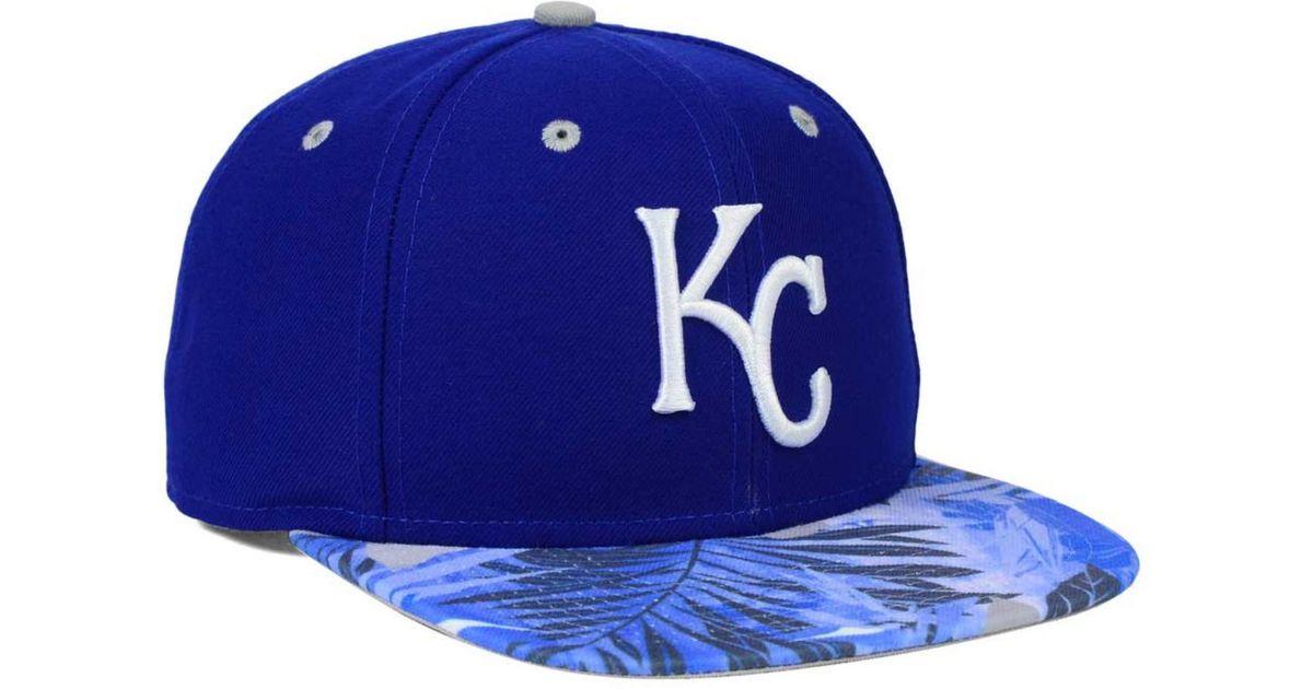 9910587ce7e3c ... ireland lyst ktz kansas city royals floral viz 9fifty snapback cap in  blue for men d656e