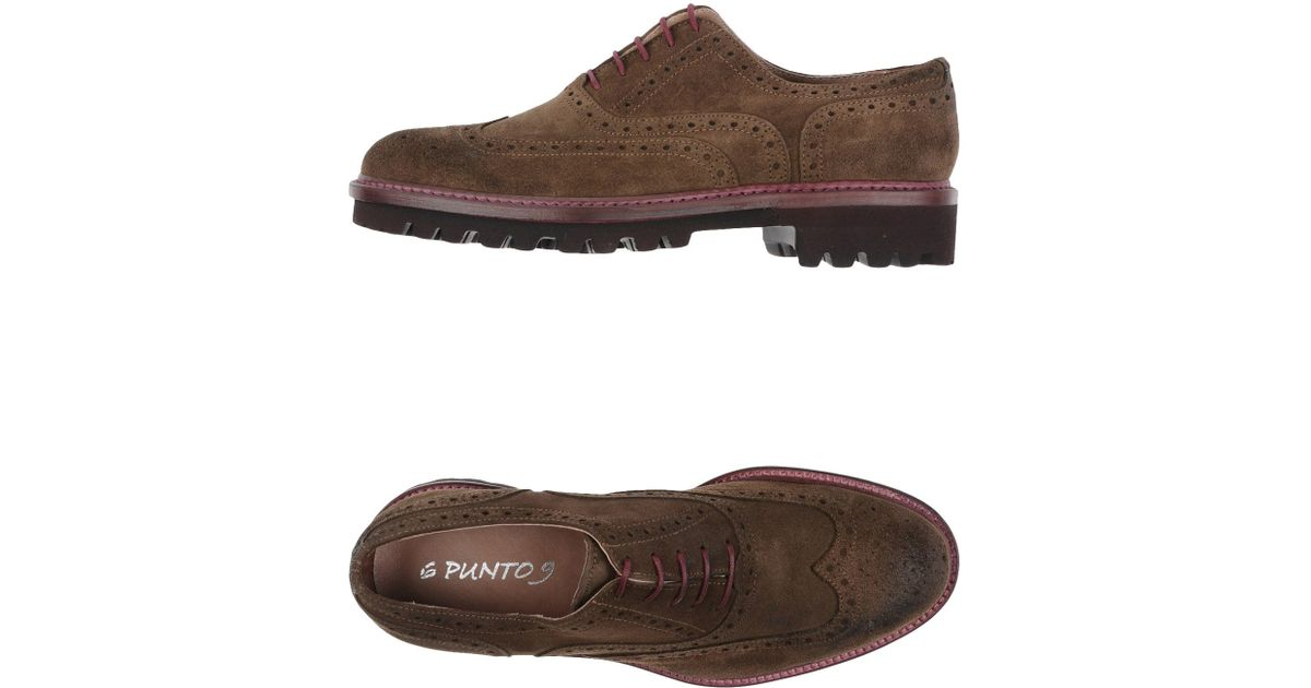 for 6 Natural 9 Punto Shoes Lace Lyst up Men in 80dSxdw