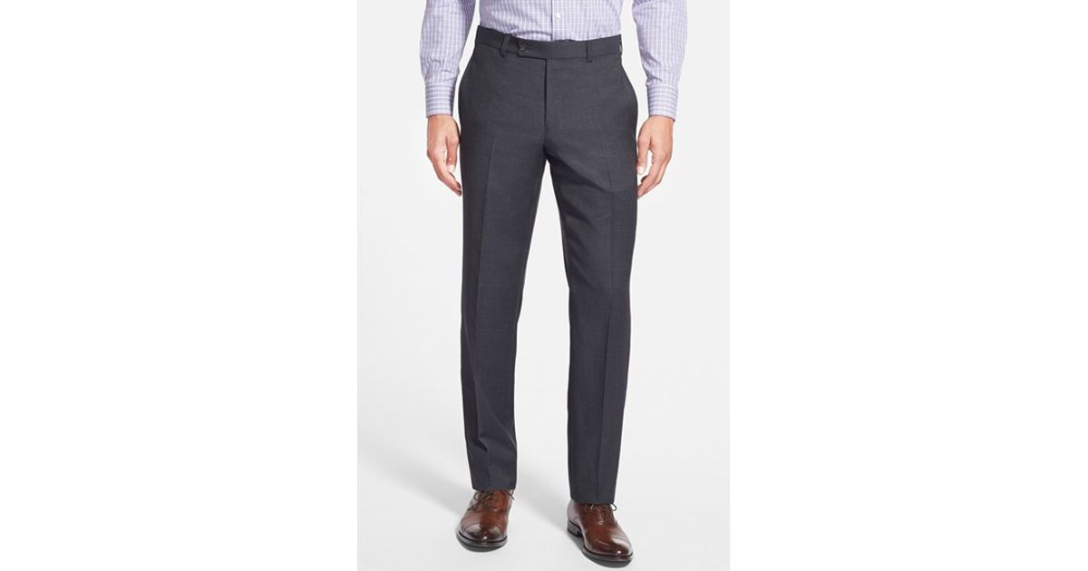 db692c025 Lyst - Ted Baker  jefferson  Flat Front Wool Trousers in Gray for Men