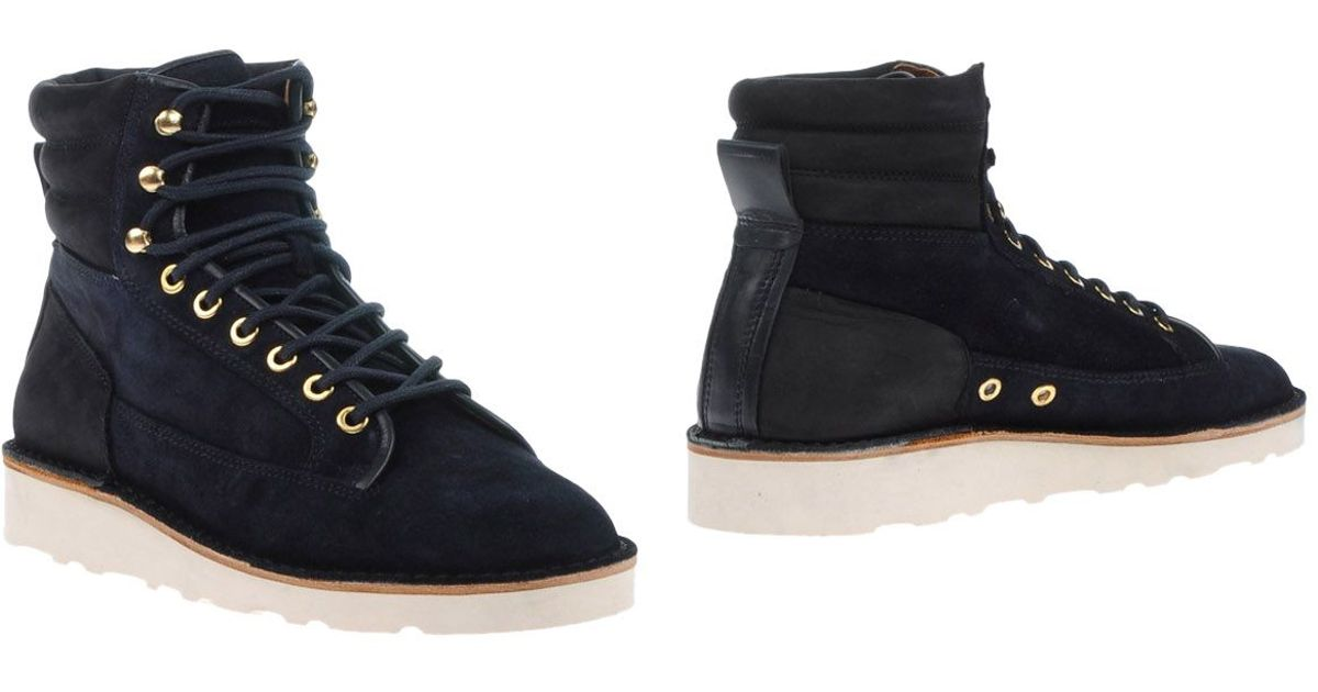 Lyst - ETQ Amsterdam Ankle Boots in Blue for Men 873ba6d97