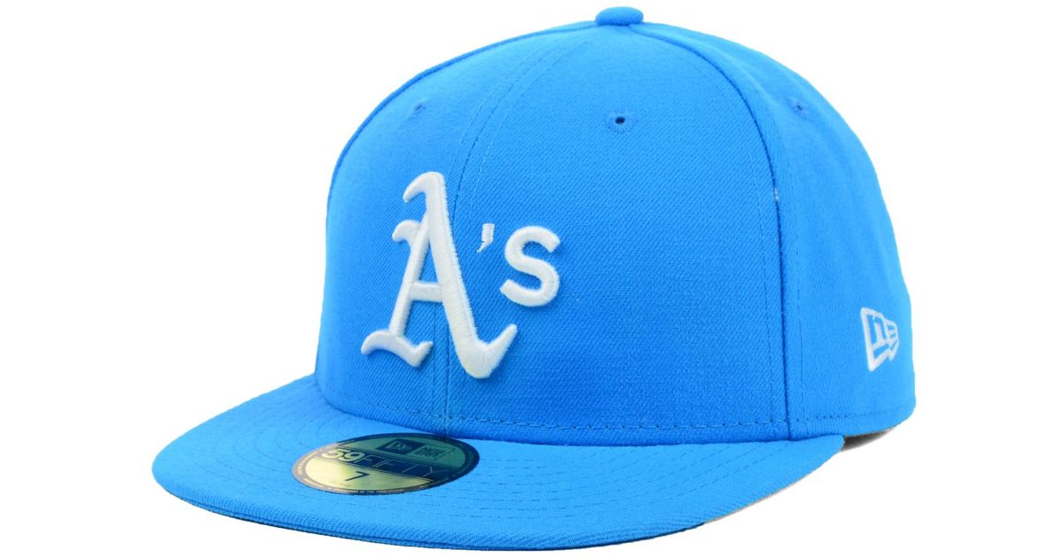 on sale f4e5f 7a44a KTZ Oakland Athletics Mlb C-dub 59fifty Cap in Blue for Men - Lyst