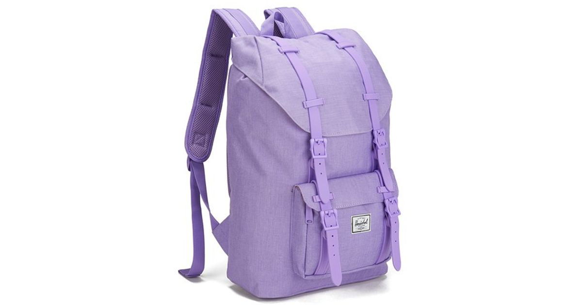 ddc380cda8eb Herschel Supply Co. Classics Little America Mid Volume Backpack in Purple  for Men - Lyst