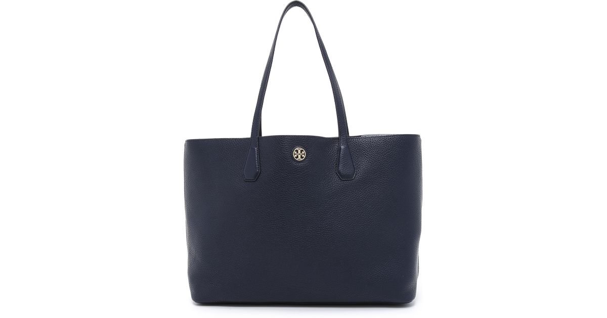 d1a5b0e1a1b50 ... wholesale lyst tory burch perry tote cloud tory navy in blue beec4 29749