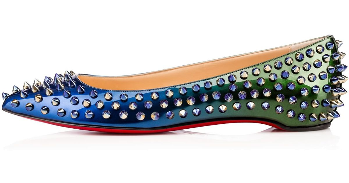 christian louboutin pigalle spikes flats