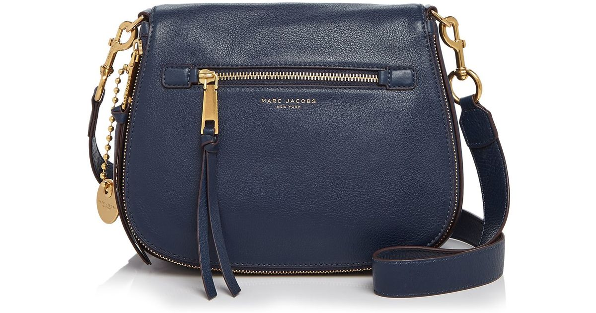 4e3d66a30 Marc Jacobs Recruit Leather Saddle Bag in Blue - Lyst