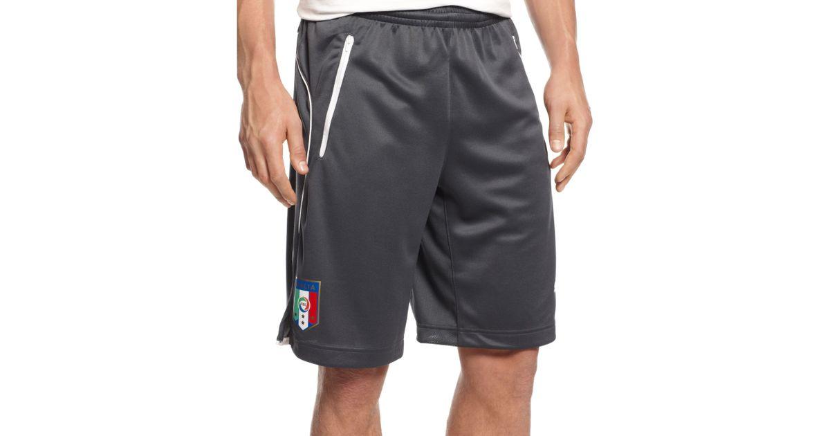 c4f0c3bed4 PUMA Figc Italia Coach Shorts in Black for Men - Lyst