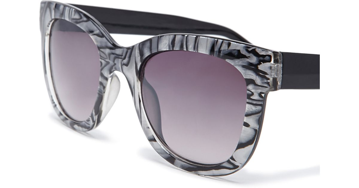 Metallic Gold Frame Wayfarer Sunglasses : Forever 21 Metallic Tortoise Sunglasses in Metallic Lyst