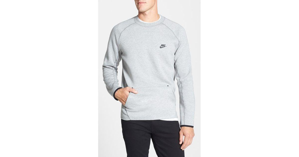819eaf8ee Nike 'tech Fleece' Thermal Crewneck Sweatshirt in Gray for Men - Lyst