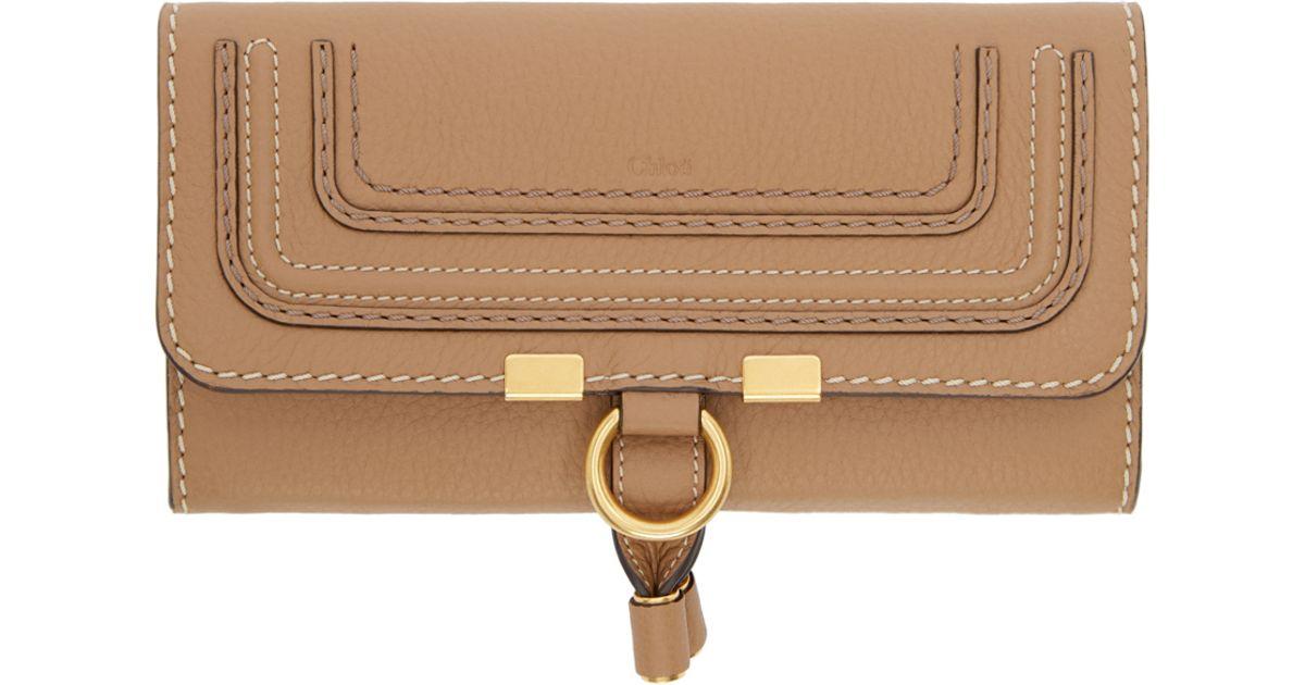 Chloe designer handbags chloe tan leather long georgia wallet cheap